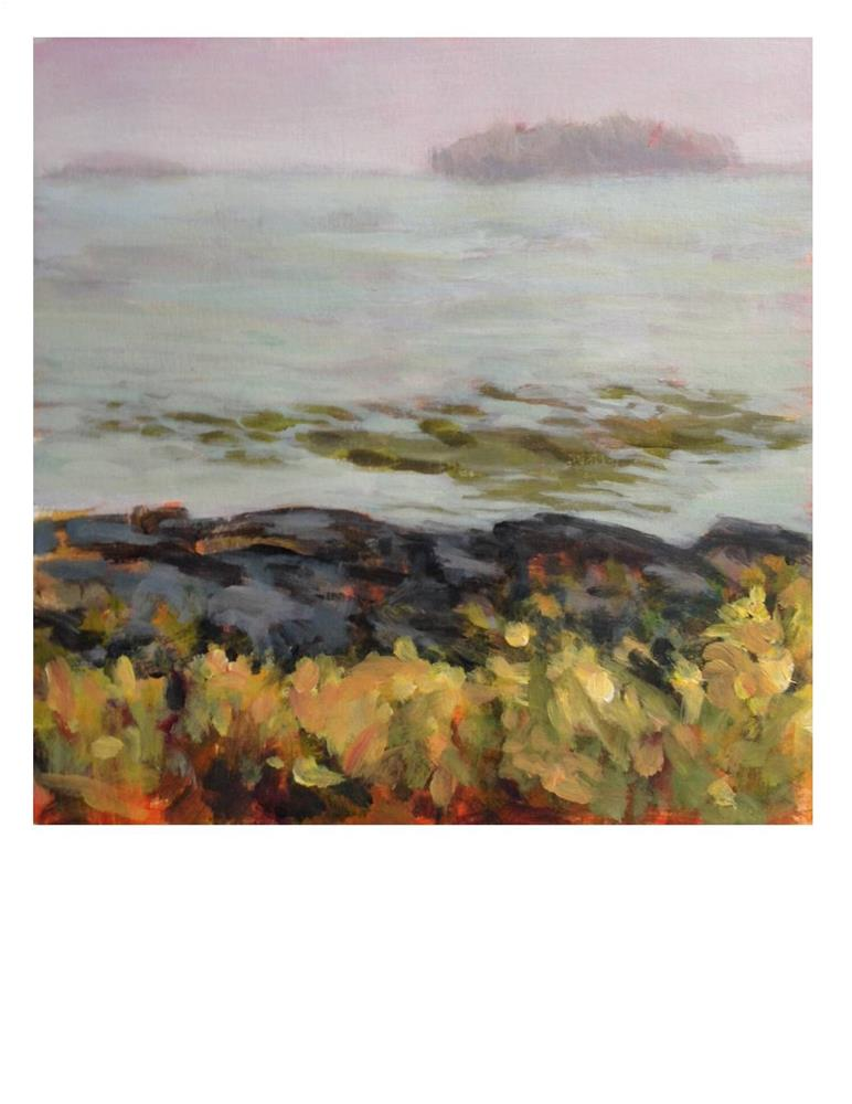 """""""Foggy Day Workshop Painting"""" original fine art by Suzanne Woodward"""
