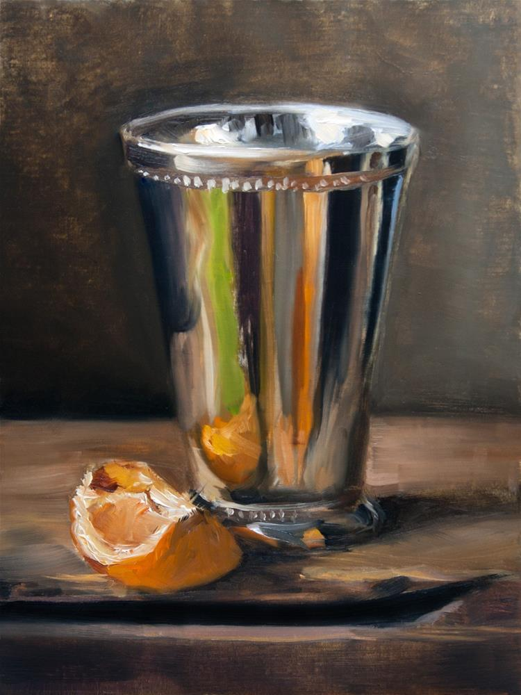 """""""Orange and Silver"""" original fine art by Vitaly Borisenko"""