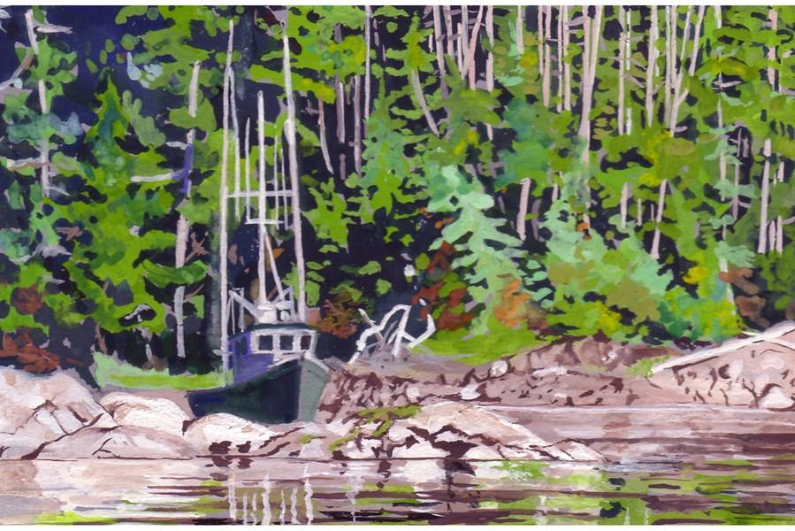 """Apex at Mirror Harbor"" original fine art by Carole Baker"