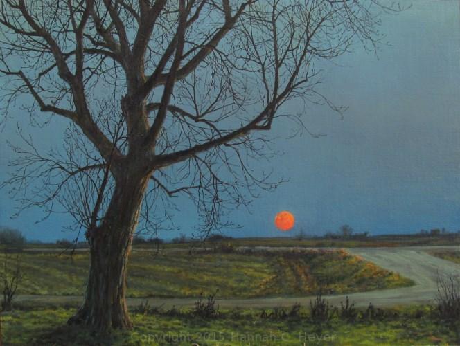 """Sprouting Grass Moon"" original fine art by Hannah C. Heyer"
