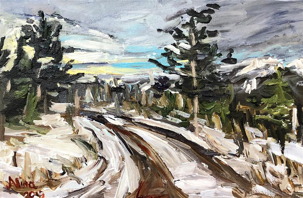 """Grand Teton Road"" original fine art by Alina Vidulescu"