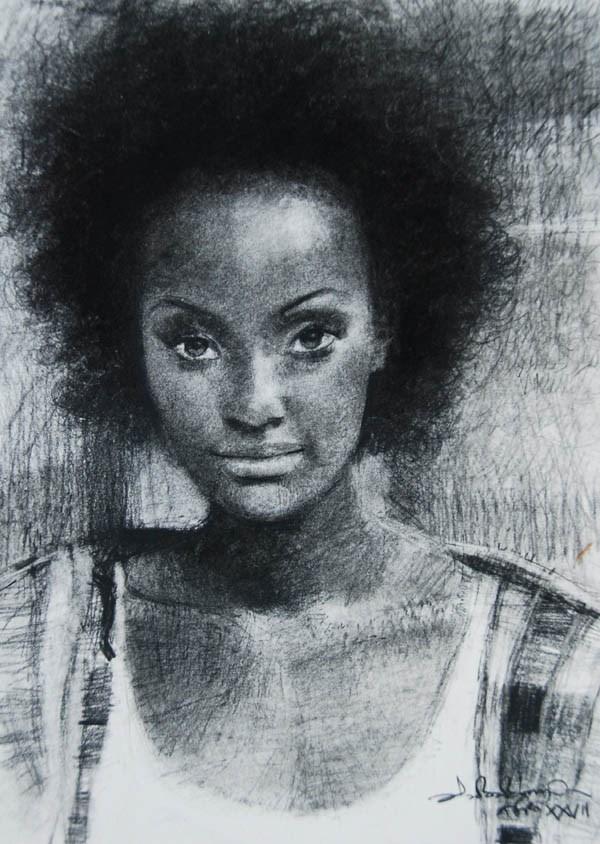 """Afro 27"" original fine art by Adebanji Alade"