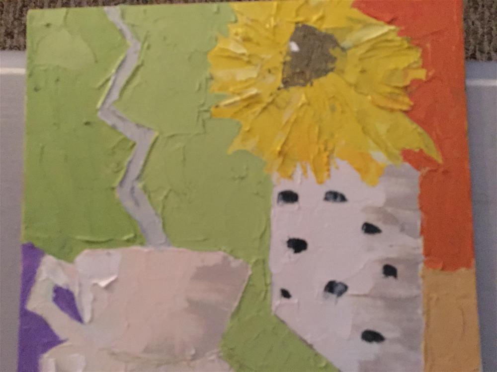 """""""Sunny cafe"""" original fine art by pamela kish"""