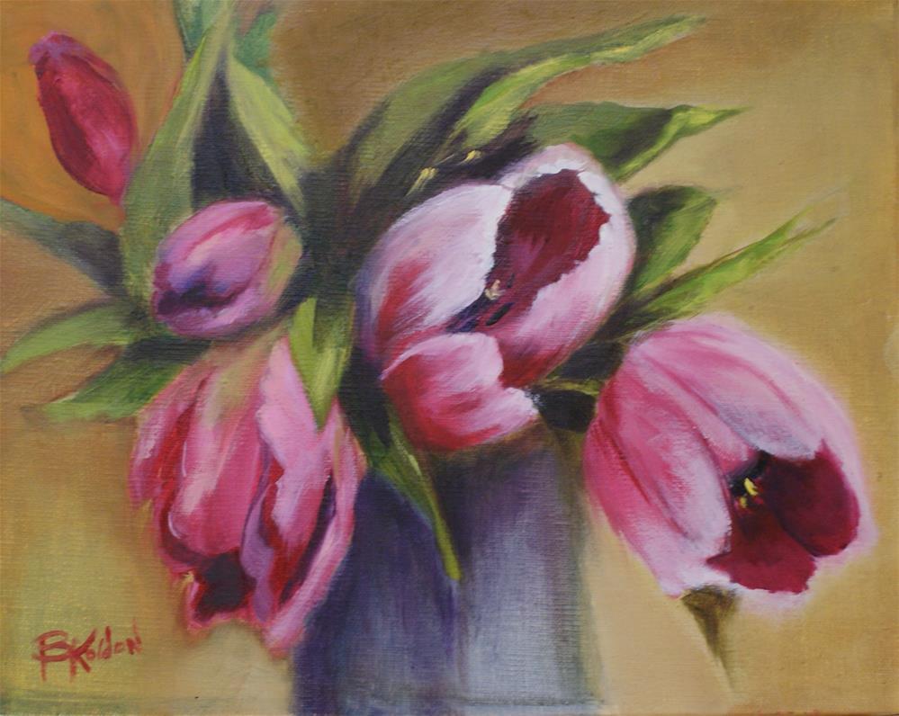 """Pink Tulips"" original fine art by Beverly Koldon"