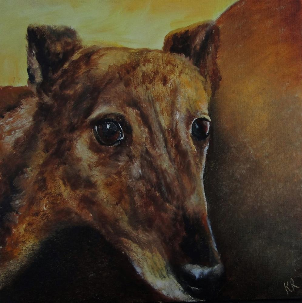 """Greyhound 3"" original fine art by Karen Robinson"