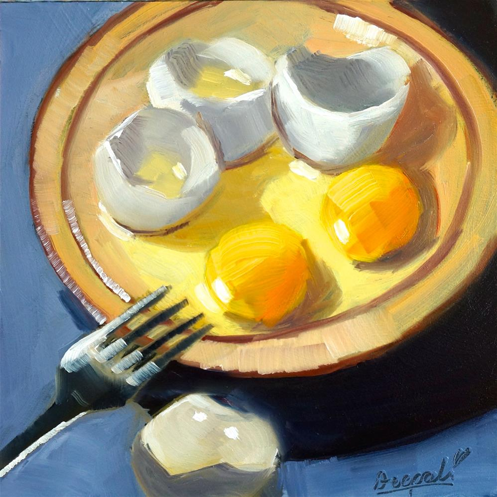 """Eggs in bowl"" original fine art by Dipali Rabadiya"