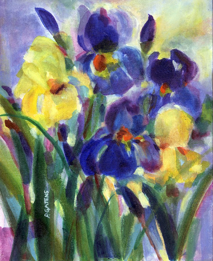 """Iris Garden"" original fine art by Pamela Gatens"