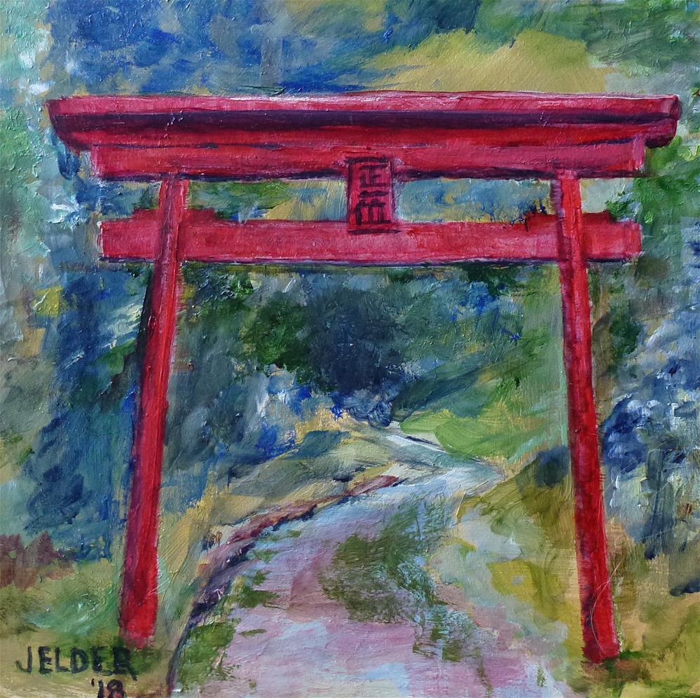 """Torii Gate"" original fine art by Judith Elder"