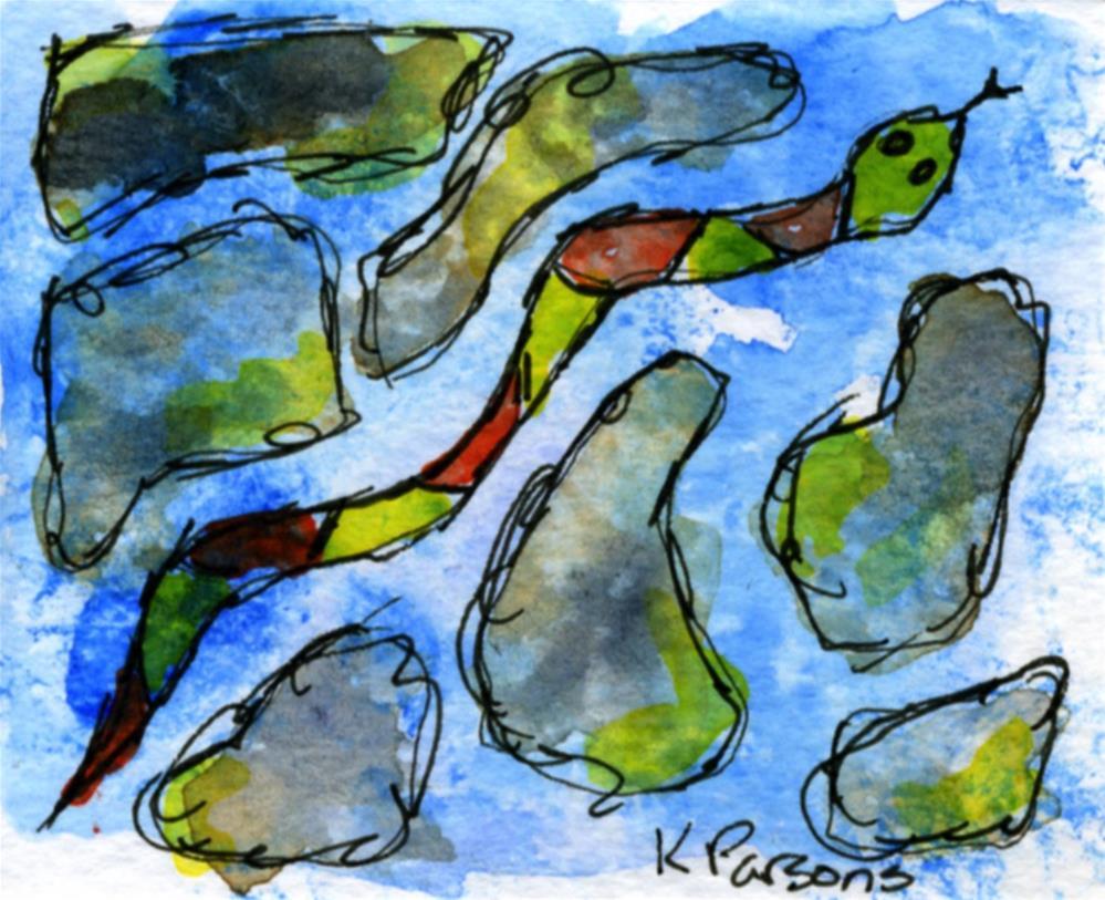 """Slither"" original fine art by Kali Parsons"