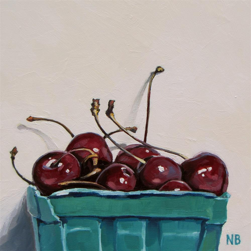 """Picked Cherries"" original fine art by Nora Bergman"