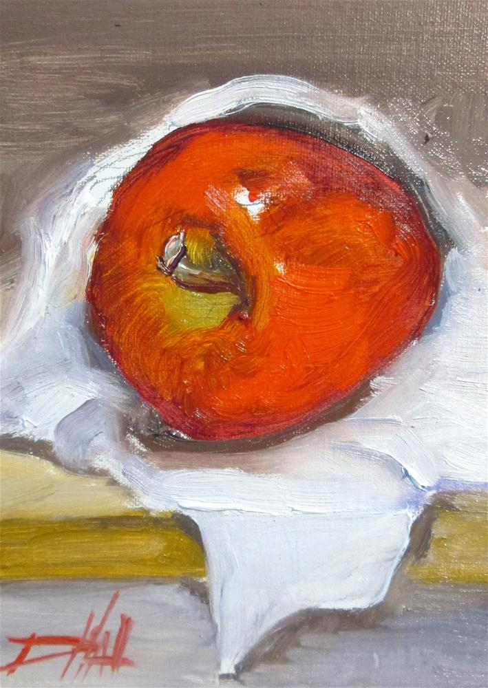"""Apple No.2"" original fine art by Delilah Smith"
