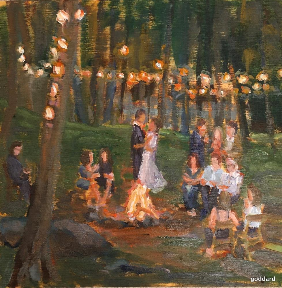 """Wedding Party"" original fine art by Shari Goddard Shambaugh"