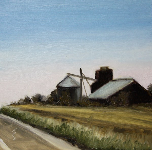 """""""By the Highway"""" original fine art by Jane Frederick"""