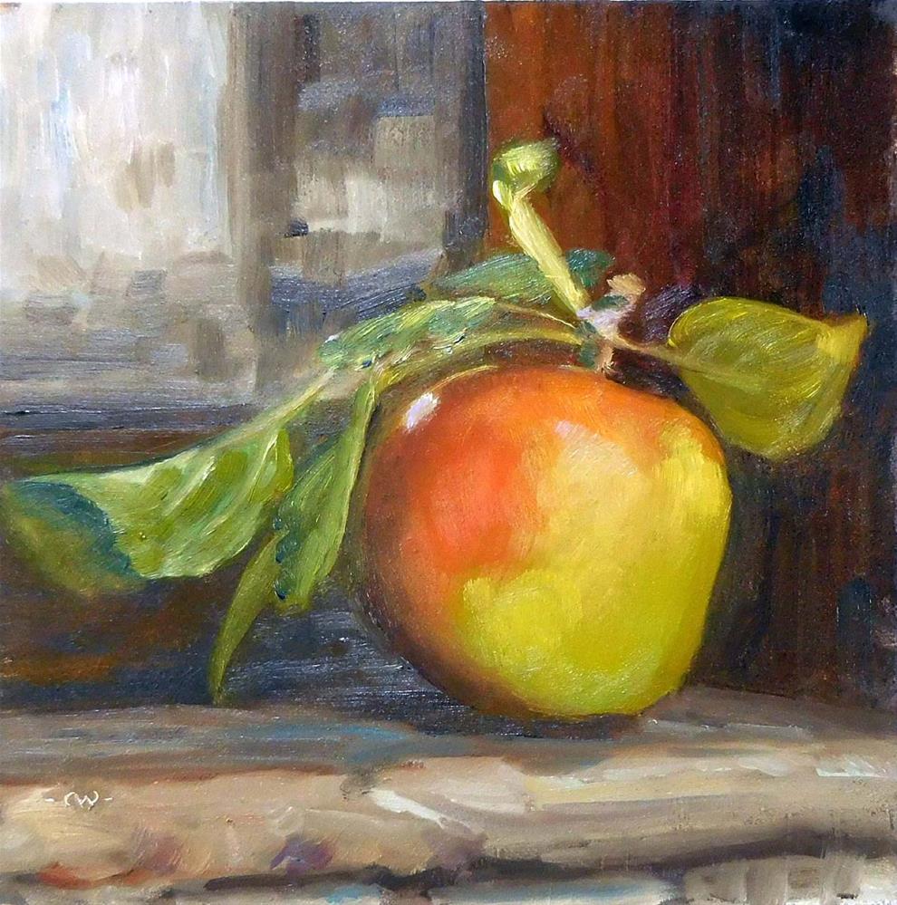 """A Is For Autmn and Apple"" original fine art by Cietha Wilson"