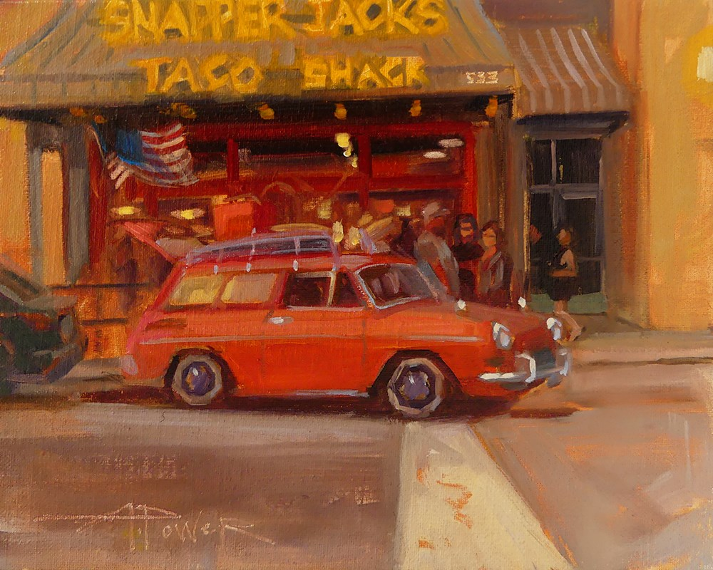 """""""Car Sketching - 3 of 30 - Red Snapper"""" original fine art by Anette Power"""