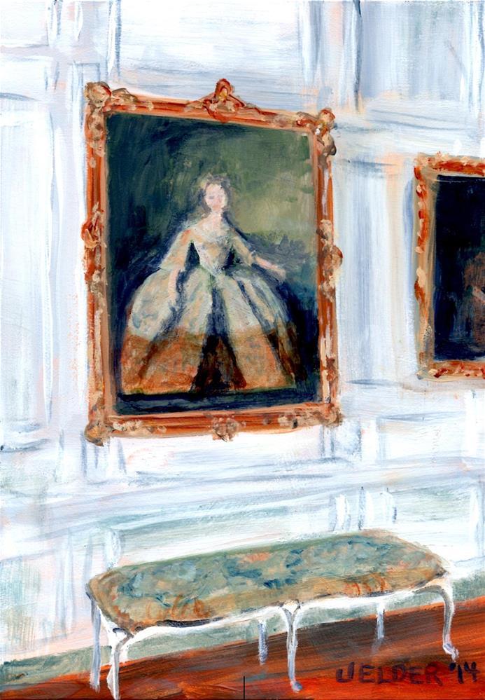 """Versailles No. 11"" original fine art by Judith Elder"