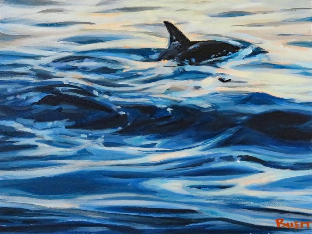"""Smooth Swimming"" original fine art by Shari Buelt"