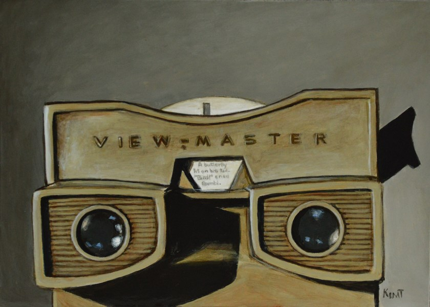 """My Vintage Viewmaster"" original fine art by Kim Testone"