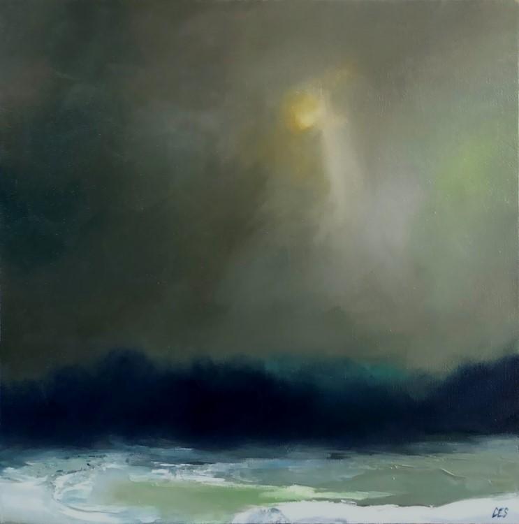 """""""Delicate Winter Glow"""" original fine art by Christine E. S. Code"""