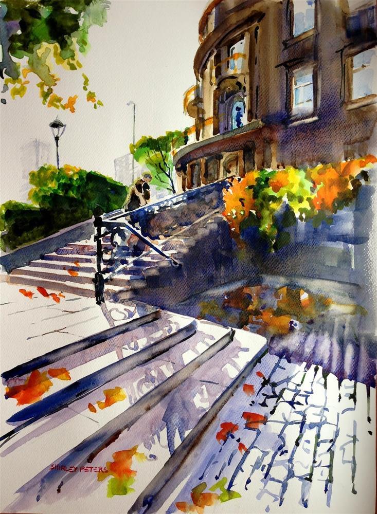 """Steps at Nikolai"" original fine art by Shirley Peters"