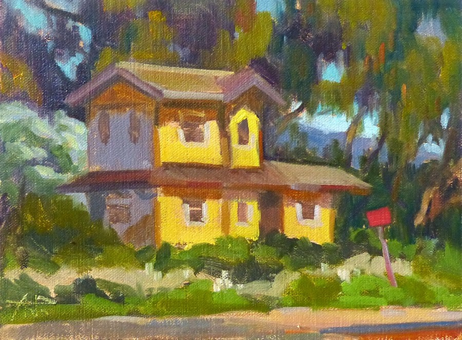 """The Railroad Play House"" original fine art by Anette Power"