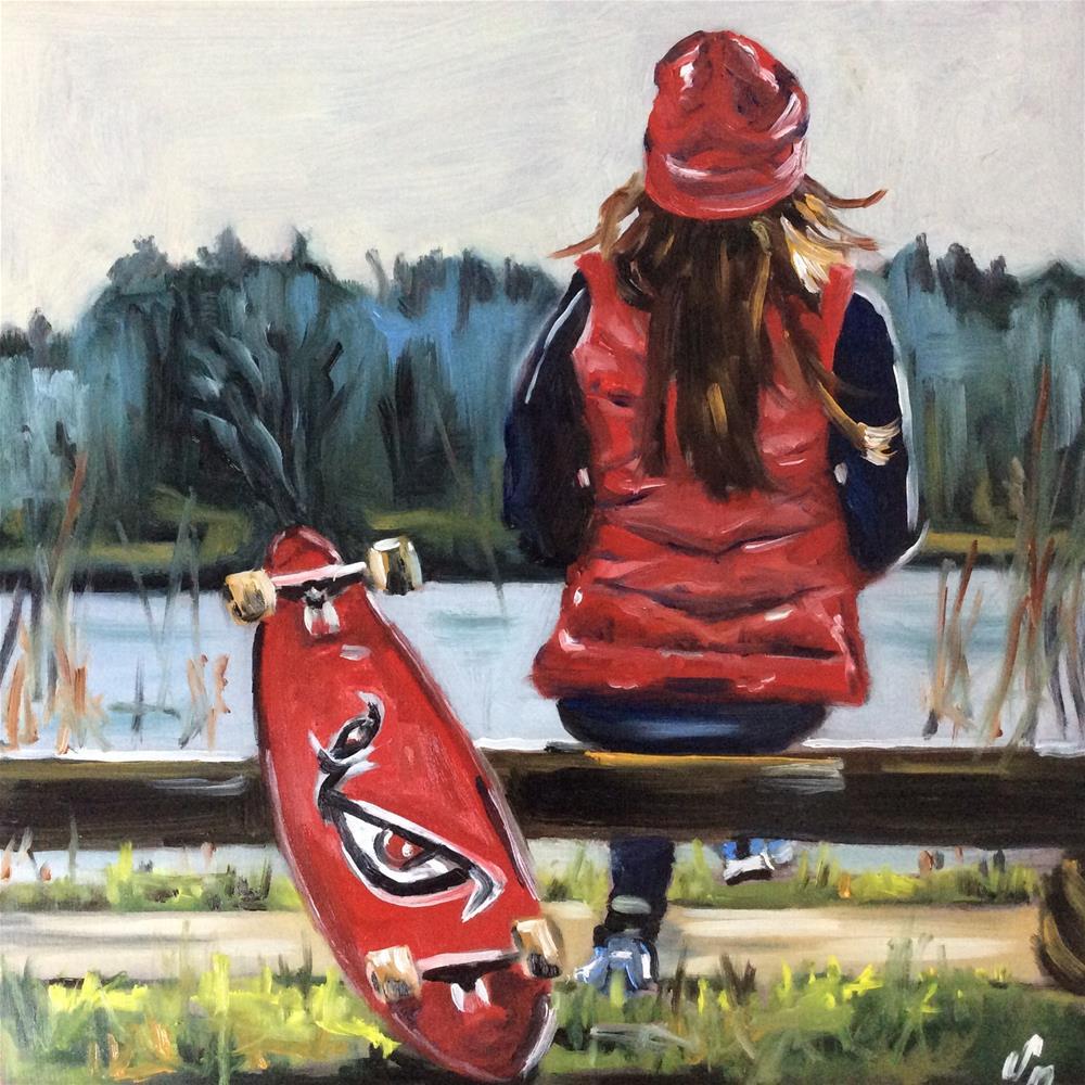"""Skater"" original fine art by Sonja Neumann"