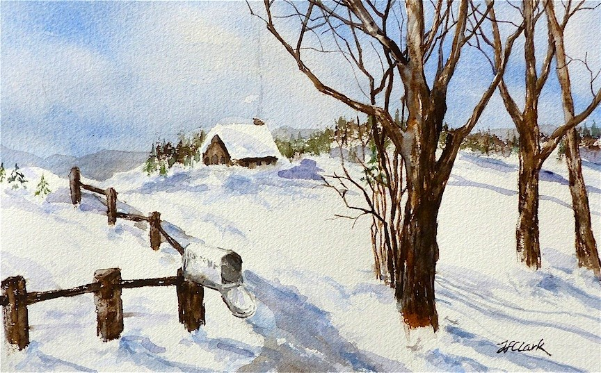 """No Mail Today"" original fine art by Judith Freeman Clark"