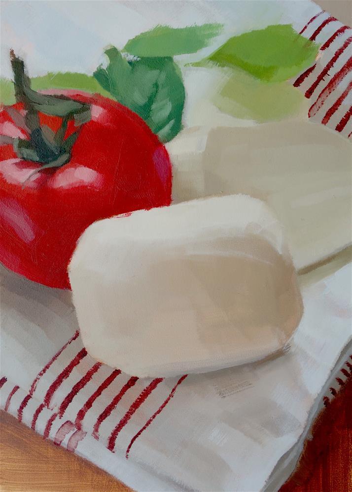 """""""Tomato, Basil and Mozzarella (no.138)"""" original fine art by Michael William"""