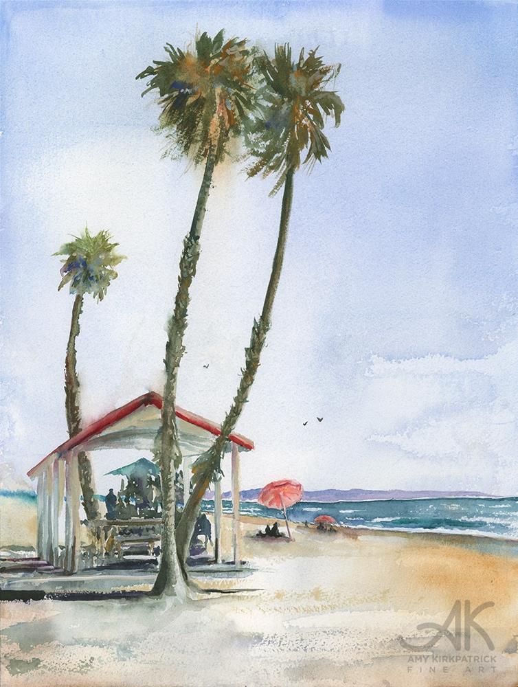 """OCEANSIDE CABANA #0615"" original fine art by Amy Kirkpatrick"