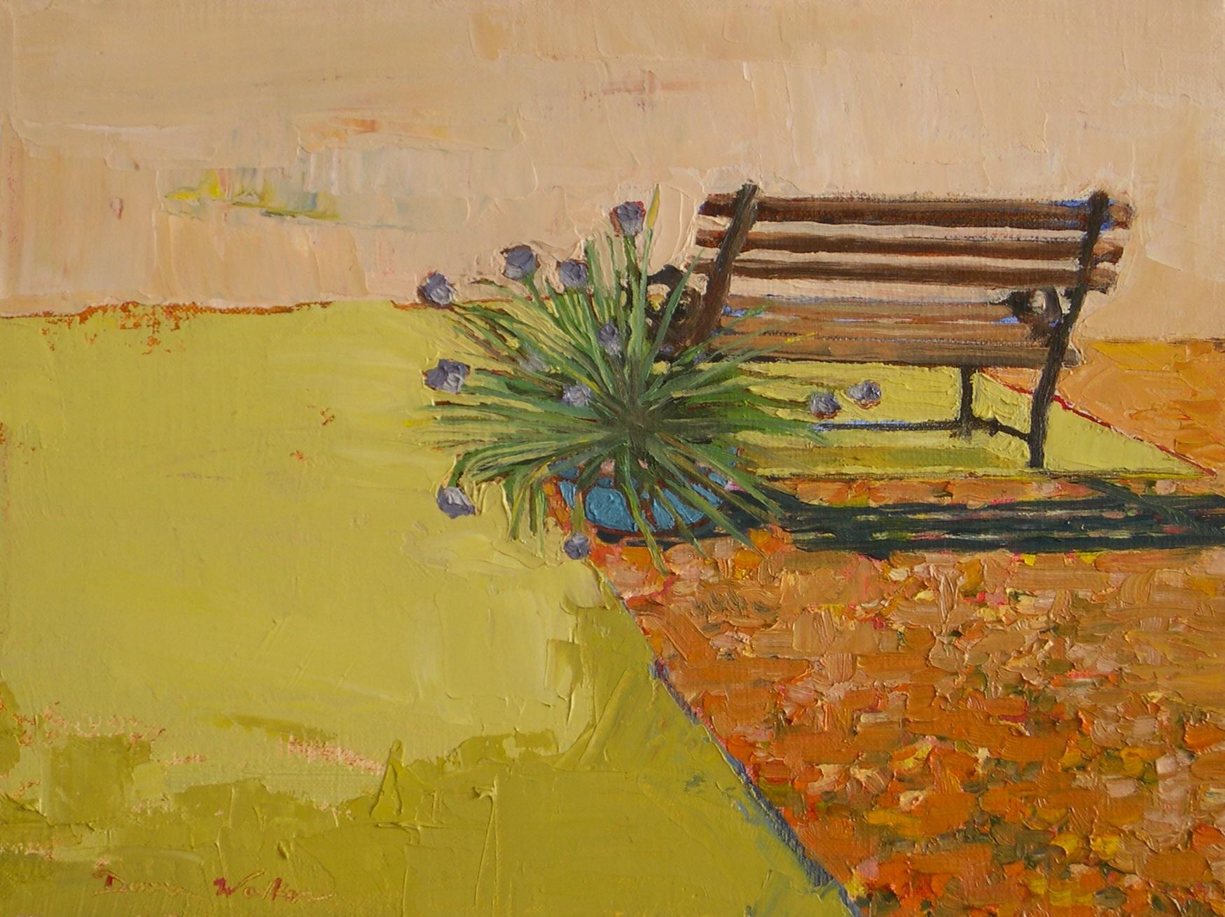 """The Bench"" original fine art by Donna Walker"