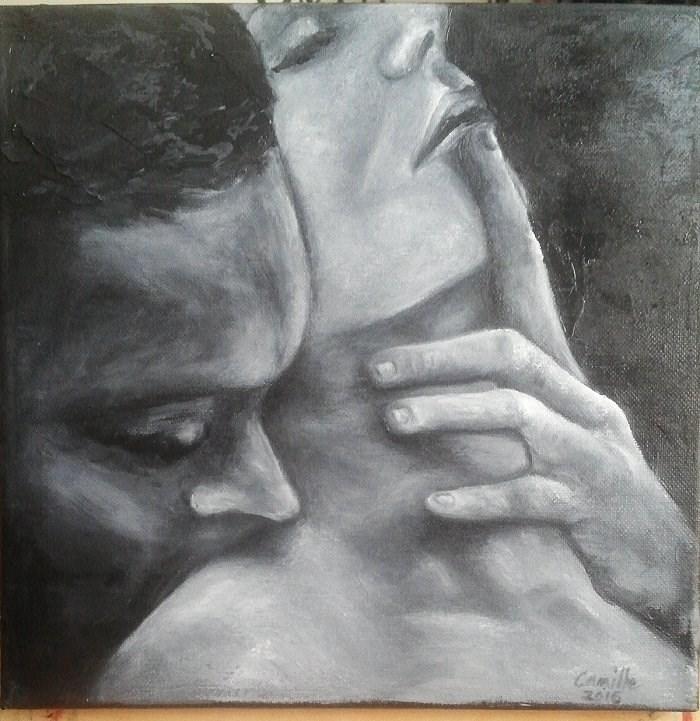 """Couple"" original fine art by Camille Morgan"