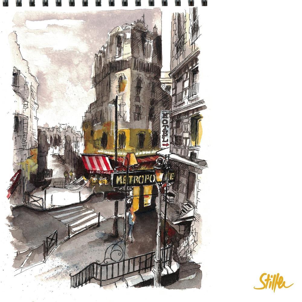 """3483 Le Refuge (Paris)"" original fine art by Dietmar Stiller"