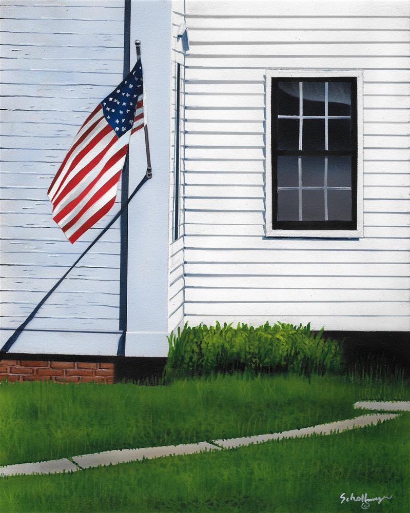 """Flag Day"" original fine art by Fred Schollmeyer"
