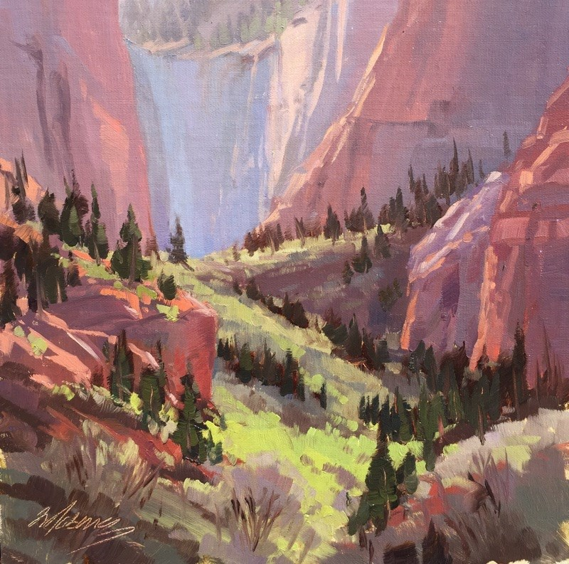 """""""Spring in the Slot Canyons - Kolob"""" original fine art by Mary Jabens"""