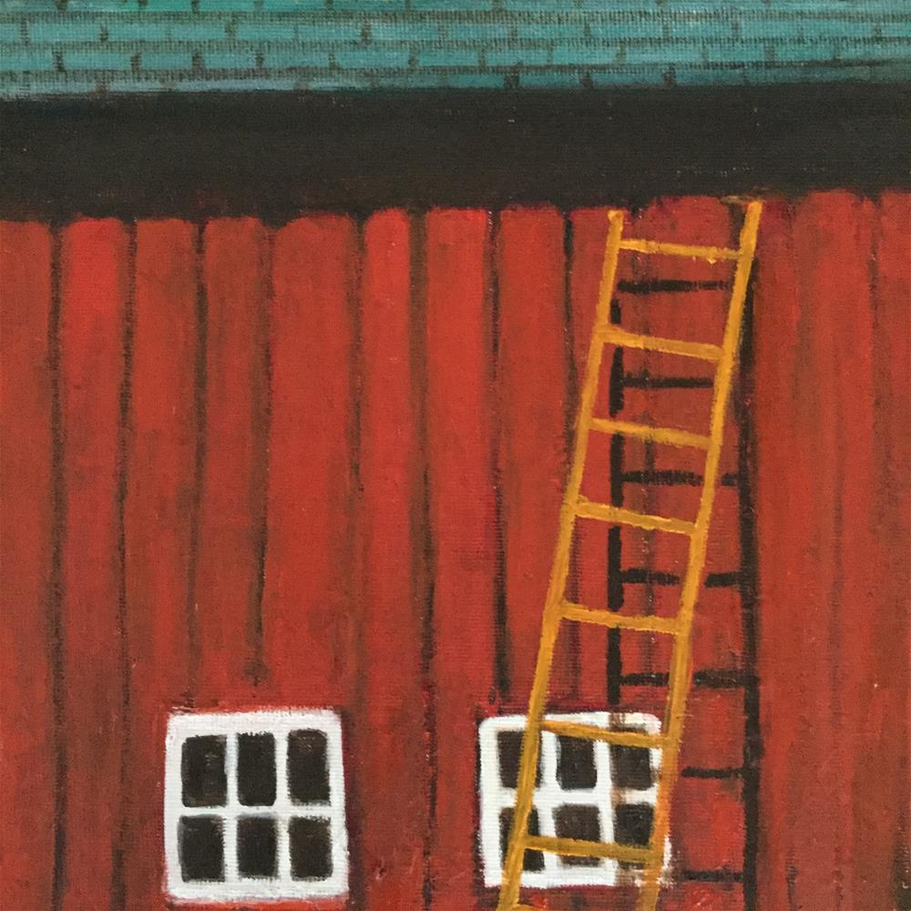 """Barn two"" original fine art by pamela kish"