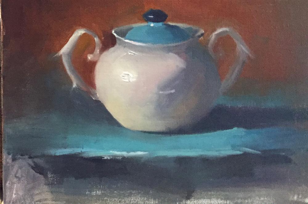 """""""whitepot"""" original fine art by Pragya Tiwari"""