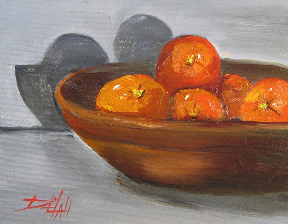 """Bowl of Oranges"" original fine art by Delilah Smith"