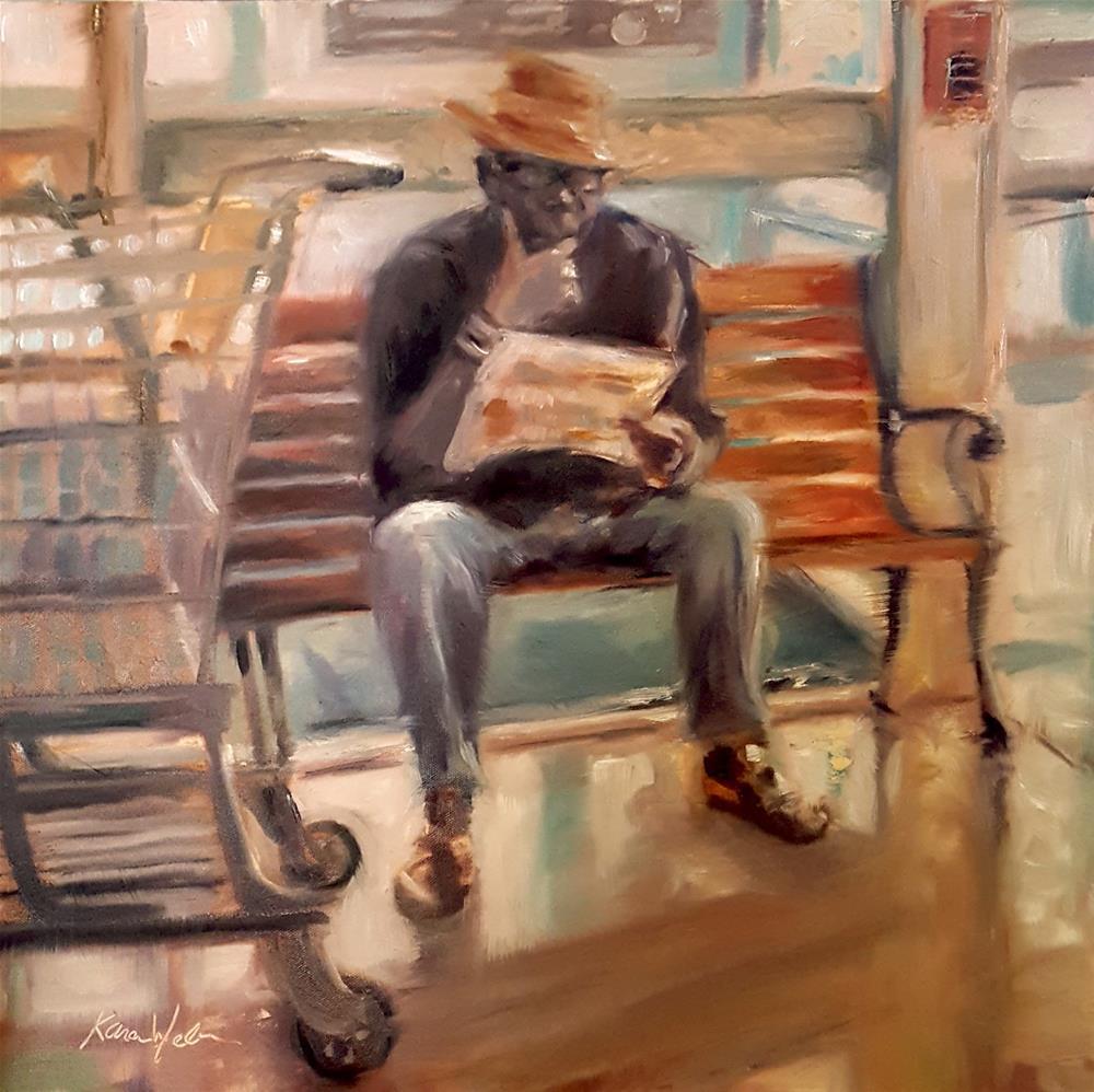"""""""Studying the Circular"""" original fine art by Karen Weber"""