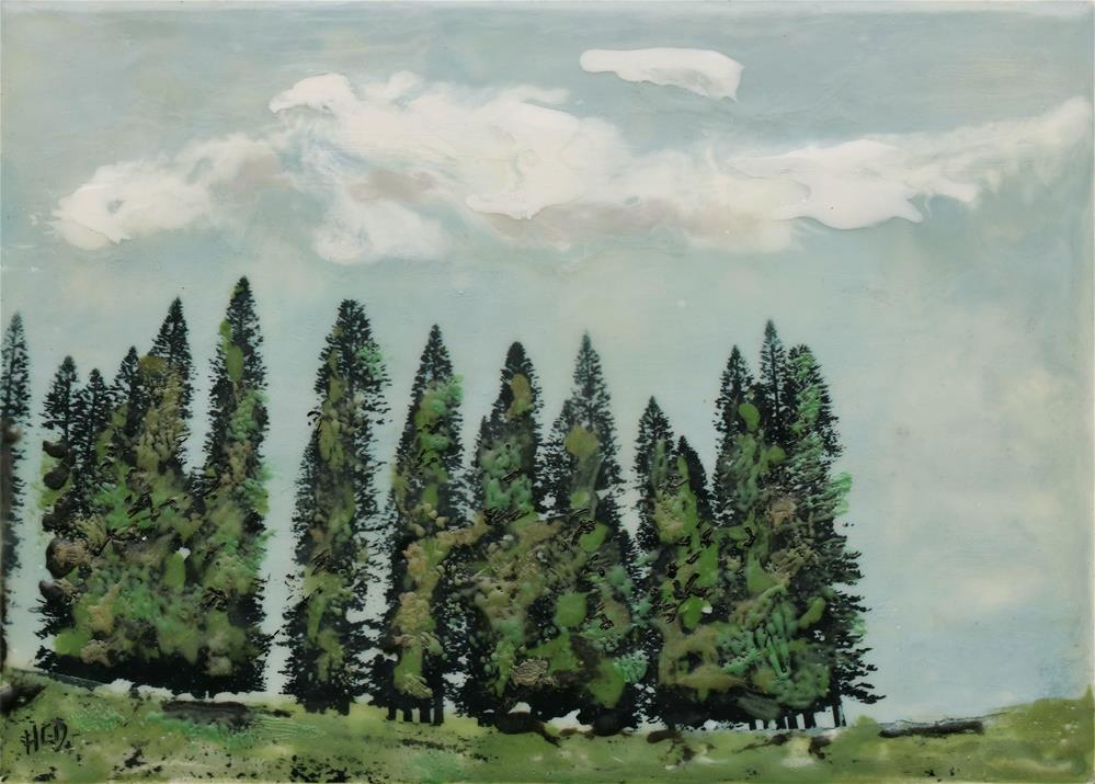 """Pine Fortress II"" original fine art by Heather Douglas"