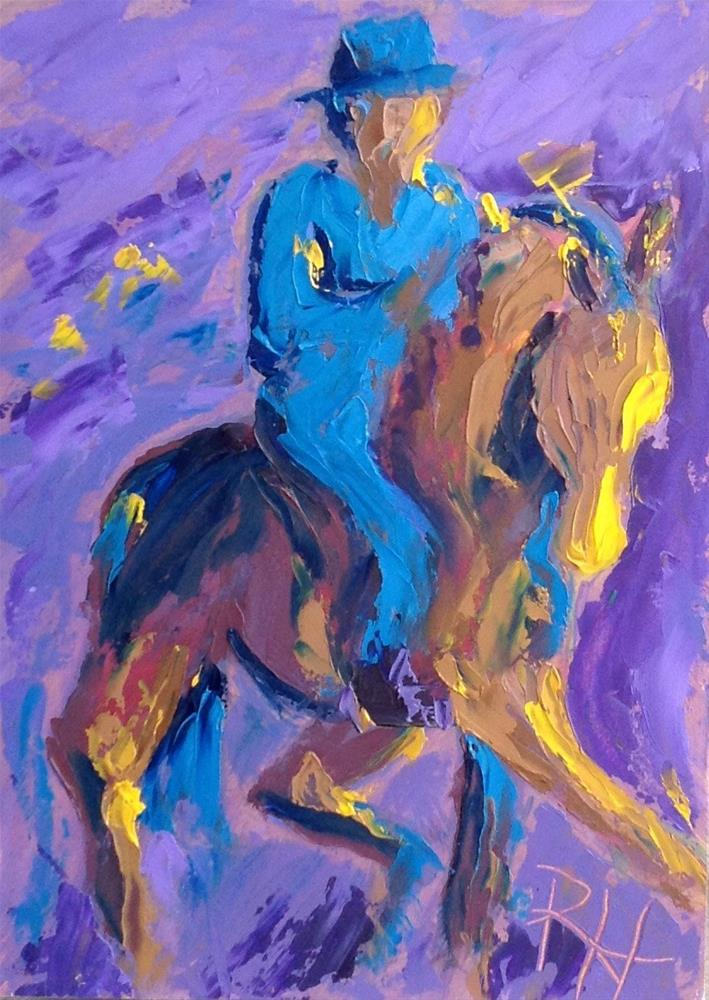 """Gliding Through the Night"" original fine art by Rachel  Holland"