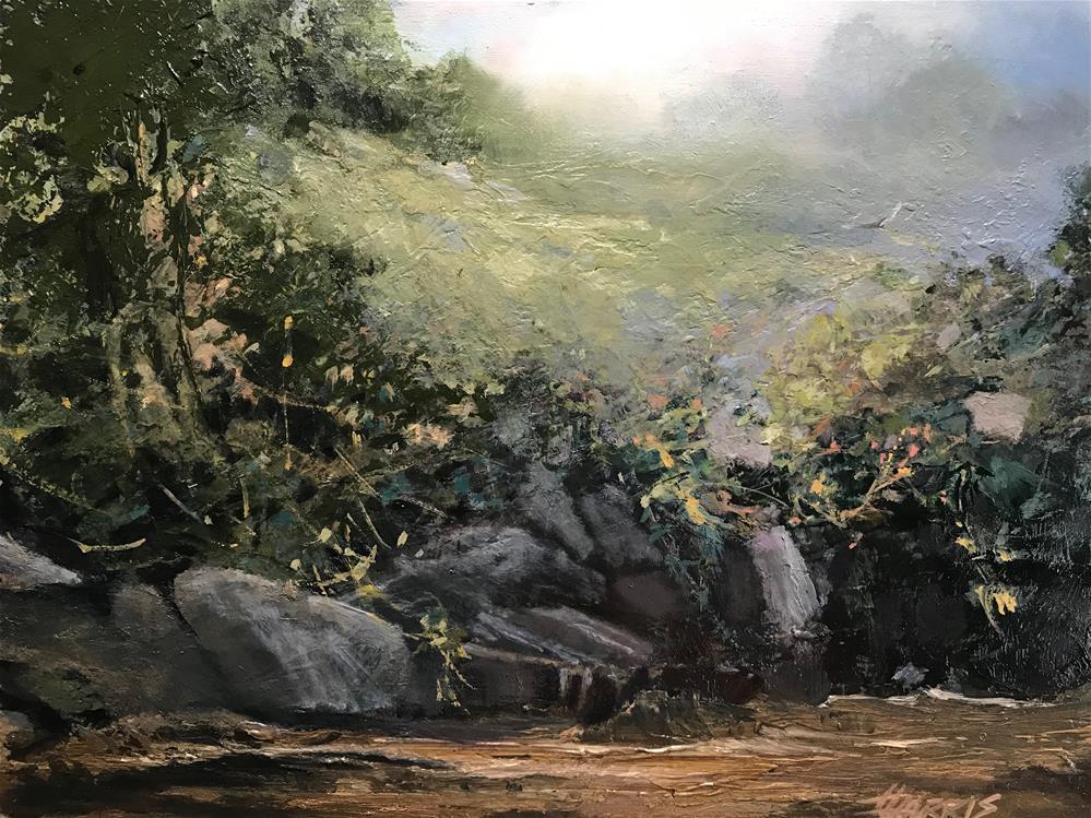 """Muddy Waters"" original fine art by Helen Harris"