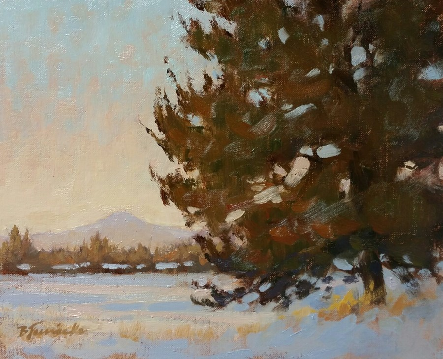 """Just Beyond Sundown"" original fine art by Barbara Jaenicke"