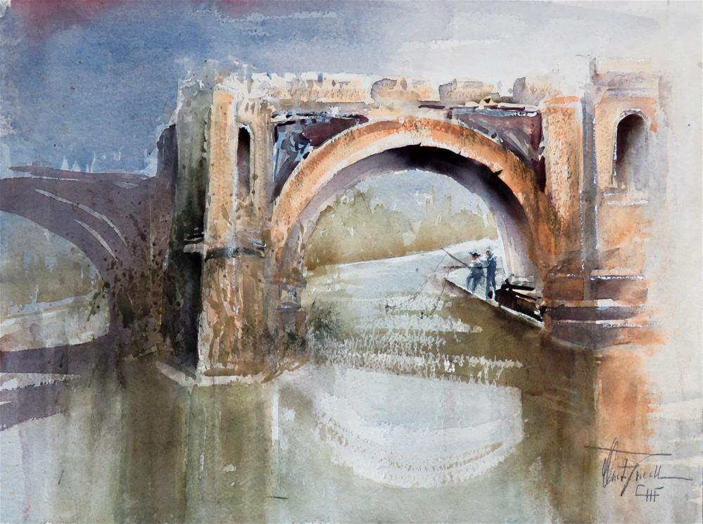 """""""Pons Aemilius"""" original fine art by Christa Friedl"""