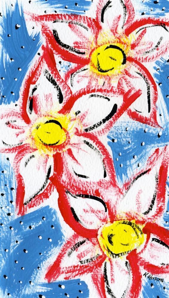 """Three's Company"" original fine art by Kali Parsons"