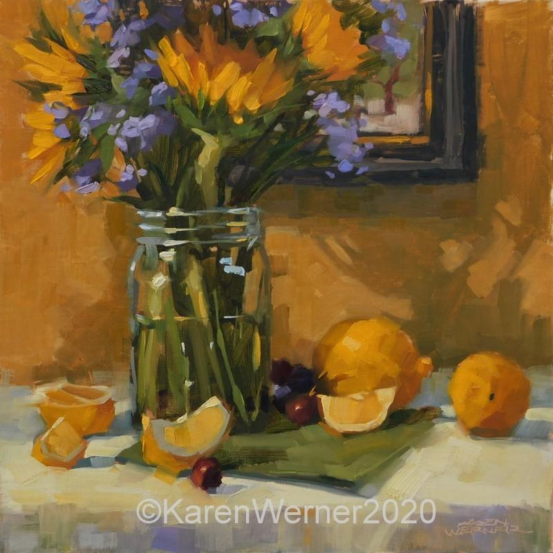 """""""Gallery Arrangement"""" original fine art by Karen Werner"""
