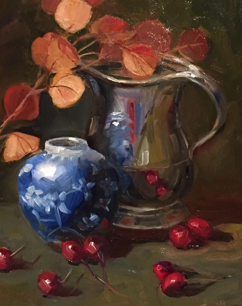 """Still Life with Cherries"" original fine art by Barbara Fluty"