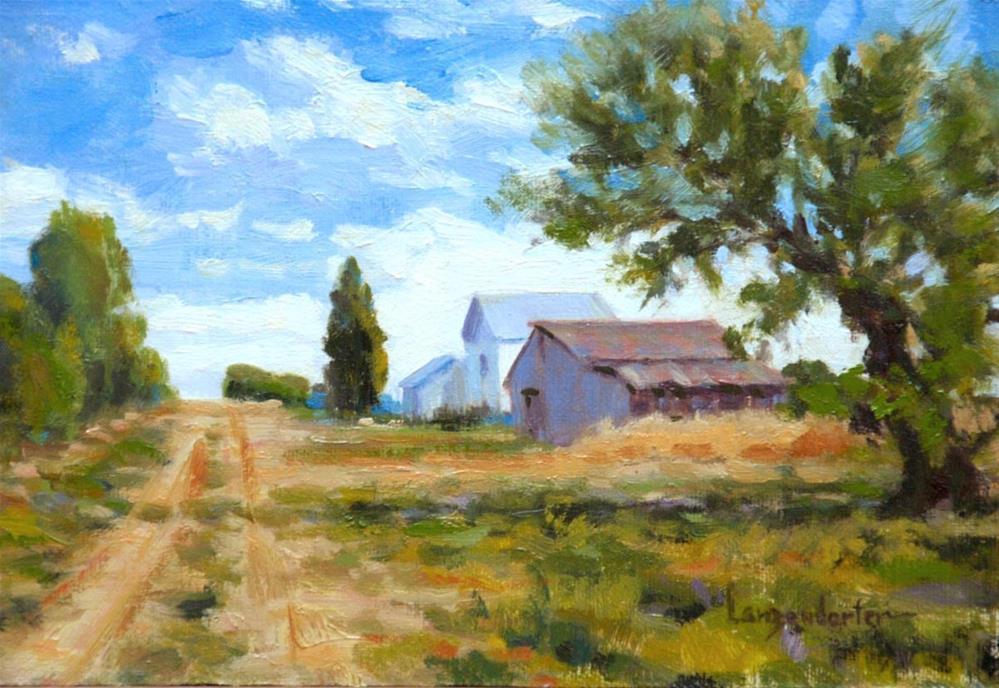 """VALLEY FARM"" original fine art by Dj Lanzendorfer"