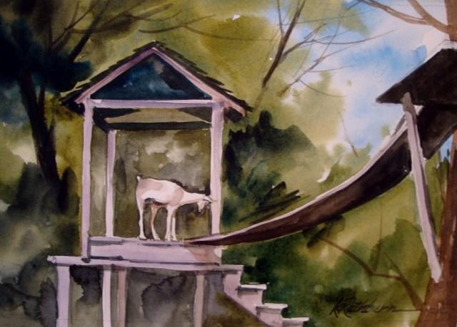 """Climbing to the Top"" original fine art by Kathy Los-Rathburn"