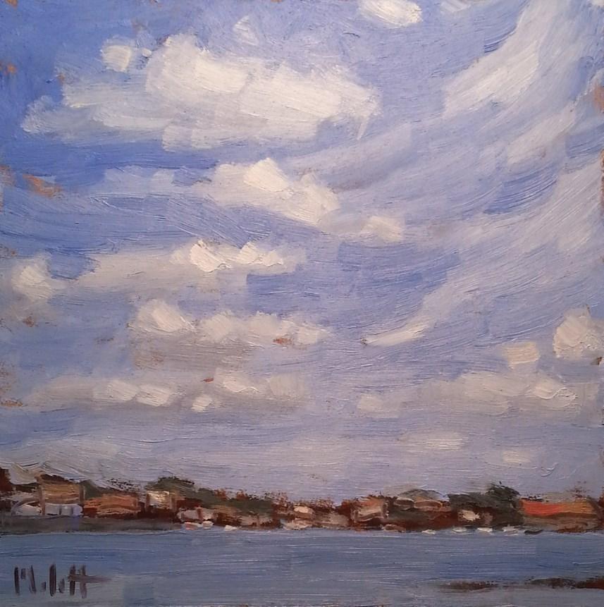 """Clearwater Florida on the Cauesway Original Oil Daily Impressionism"" original fine art by Heidi Malott"