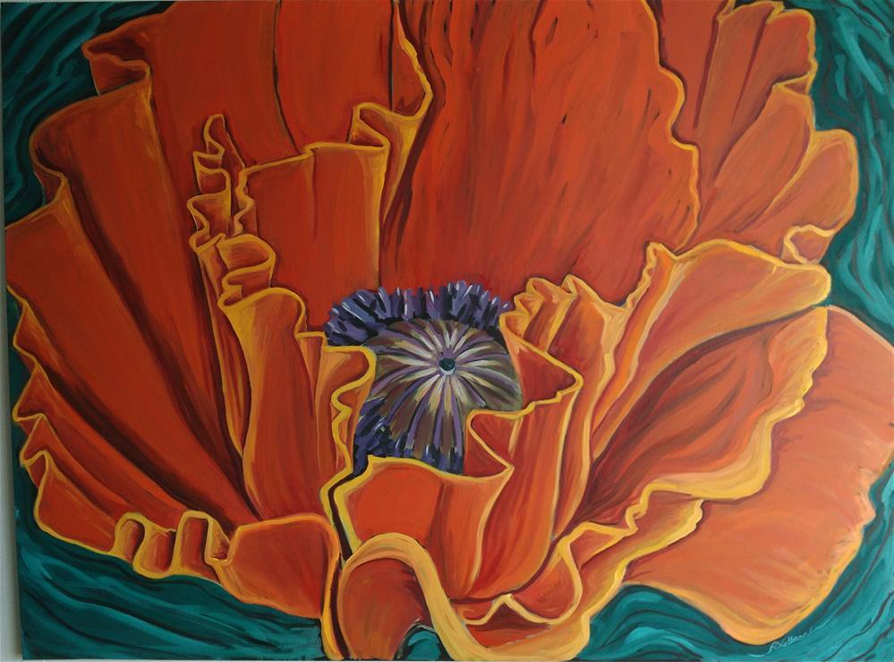 """""""Orange Poppy"""" original fine art by Robyn Suzanne"""